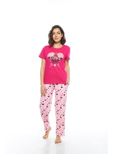 Estiva Pijama Takım Fuşya